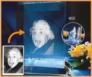 |3Dの詳細はサンプル写真をご参照下さいませ。  写真をクリックすると拡大画像にな...|人間の顔を3Dや2Dでガラスに入れるとどんな感じになりますか?|3Dクリスタル|記念品.comのFAQ