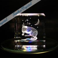 子(ネズミ)|3Dクリスタル