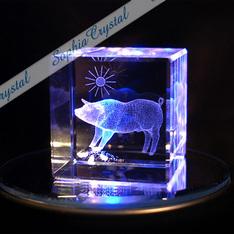 亥(イノシシ)年のノベルティーにも|亥(イノシシ)年のノベルティーに最適!|亥(イノシシ)|3Dクリスタル|記念品.com