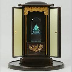 |日蓮聖人厨子(厨子盆付)と3DクリスタルとLED台座の3点セット|日蓮聖人|仏像・寺院|記念品.com