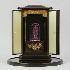 親鸞聖人:厨子(厨子盆付)|親鸞聖人:厨子(厨子盆付)と3DクリスタルとLED台座の3点セット |親鸞聖人|仏像・寺院|記念品.com