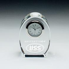 ロゴも小さいながら大変よく出来て| クリスタル時計を受け取り、全品中身を確認しましたが、全く問題はありませんでしたのでご連絡します。|某交通指導員連絡協議会さま|弊社納品実績とお客様の声|記念品.com