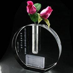 クリスタルフラワーベース(一輪挿しの花瓶)です。|クリスタルフラワーベース(一輪挿しの花瓶)です。|一輪挿し|3Dクリスタル|記念品.com