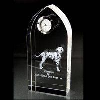 サイズも豊富な創立記念や竣工記念に最適なクリスタル時計です!|クリスタル時計|アーチ|スッキリとしたスリム形状で、竣工の記念品に多数採用されたクリスタル時計です!