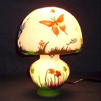 WDG-0701|ガレ調ランプ・キセグラス