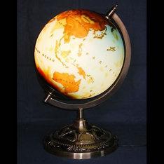 開店祝いの贈り物などに・・|かなりレアで高級感漂う地球儀ランプです。 社長室や応接室などのインテリアにいかがでしょうか?|地球儀ランプ|ガレ調ランプ・キセグラス|記念品.com