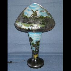 開店祝いの贈り物などに・・|大量用途の創立記念品やノベルティーなどに・・|WDG1418-12|ガレ調ランプ・キセグラス|記念品.com
