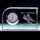 文字入れ写真もOK!|クリスタル時計|ワンコーナーカット|特にお求め易いFLガラス商品を追加!新発売記念価格で販売中!!★時計はノーブランドの中国製です。