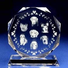 ペットの写真をガラスの中に入れられる!|ペットの写真がガラスの中に入れられる!どんなに磨いても文字や写真が消えることはありません!|W8-2d-a|ペットの記念品|記念品.com