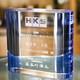 退職記念品に!|3Dクリスタル|サイドカラー|爽やかなブルーとクリアのガラスのコラボが美しいアイテムです。  ・スタイリッシュな表彰楯としても好評!