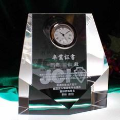 社内表彰に|社内表彰の表彰記念に人気のクリスタル時計です。安心の後払いで特急対応致します。ご注文から・・なんと1~3営業日で発送可能!!|DT-7|超特急の記念品|記念品.com