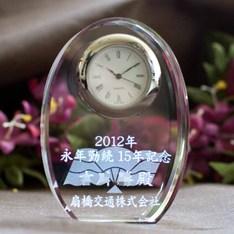 卒業記念にも|信頼のSEIKO社Quartz使用の名入れクリスタル時計を企業、団体、学校用途向けにボリュームディスカウントをさせて頂いております。|DT-2レーザー|大量割引|記念品.com