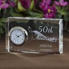 創立記念に大人気!|信頼のSEIKO社Quartz使用の名入れクリスタル時計を企業、団体、学校用途向けにボリュームディスカウントをさせて頂いております。|DT-1-レーザー|創立記念品|記念品.com