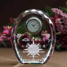 永年勤続表彰に人気のクリスタル時計です。|安心の後払いで特急対応致します。ご注文から・・なんと1~3営業日で発送可能!!|DT-4|超特急の記念品|記念品.com