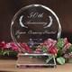 円形のフォルムが退職記念にも好評。|クリスタル盾|DP-3レーザー|エレガントな円形のフォルムが優等賞などの社内表彰にも好評です。