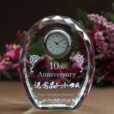 創立や卒業の記念に。|信頼のSEIKO社Quartz使用の名入れクリスタル時計を企業、団体、学校用途向けにボリュームディスカウントをさせて頂いております。|DT-4レーザー|大量割引|記念品.com