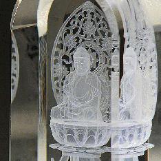 3Dクリスタル(DB-1)|3DクリスタルとLED台座のセット|座釈迦(DB-1)|仏像・寺院|記念品.com