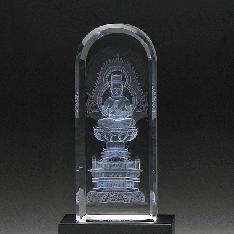 3Dクリスタル(DB-3)|大日如来 3DクリスタルとLED台座のセット|大日如来(DB-3)|仏像・寺院|記念品.com