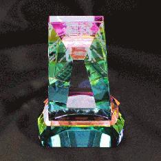 底面のホログラムシートで七色に輝く|CR-12レーザー
