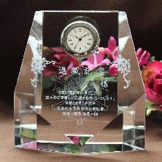 ロゴマークを大きく入れて名入れもしたい。|・消防署の退職記念や青年会議所の卒業記念品に人気です!|DT-7レーザー|クリスタル時計|記念品.com